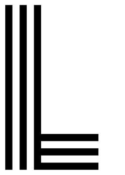Poster med bokstaven L