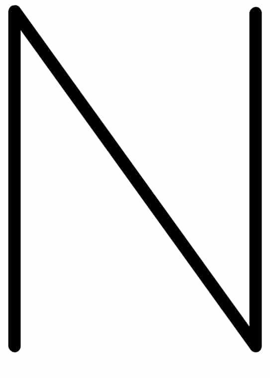 Poster med bokstaven N