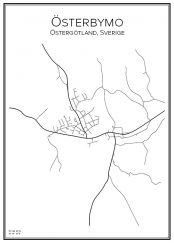 Stadskarta över Österbymo