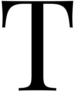 Poster med bokstaven T