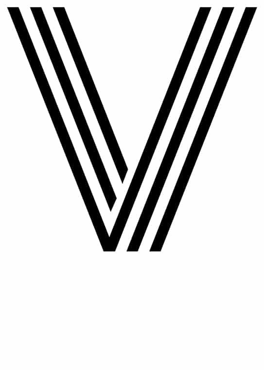 Poster med bokstaven V