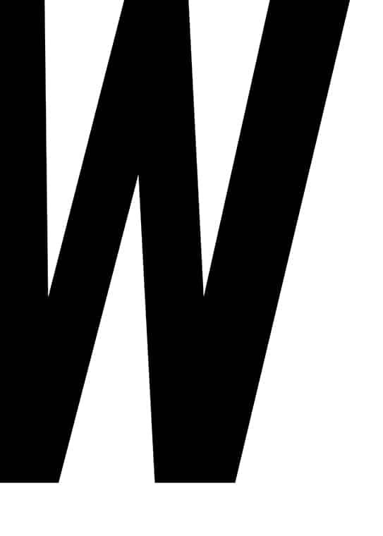Poster med bokstaven W