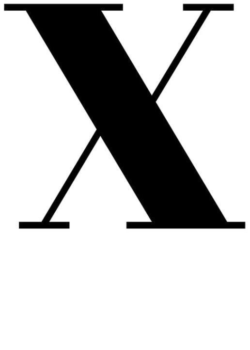 Poster med bokstaven X