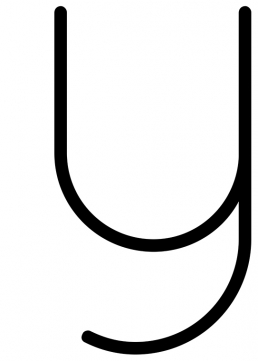 Poster med bokstaven Y