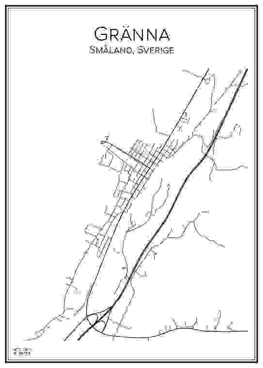 Stadskarta över Gränna
