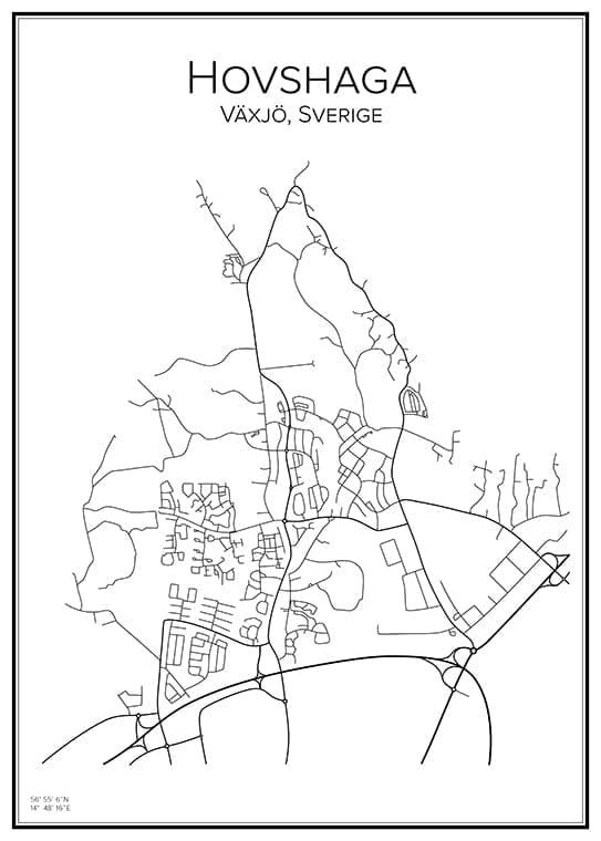 Stadskarta över Hovshaga