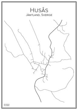 Stadskarta över Husås