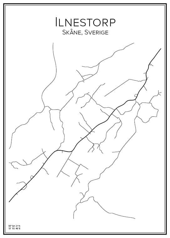 Stadskarta över Ilnestorp