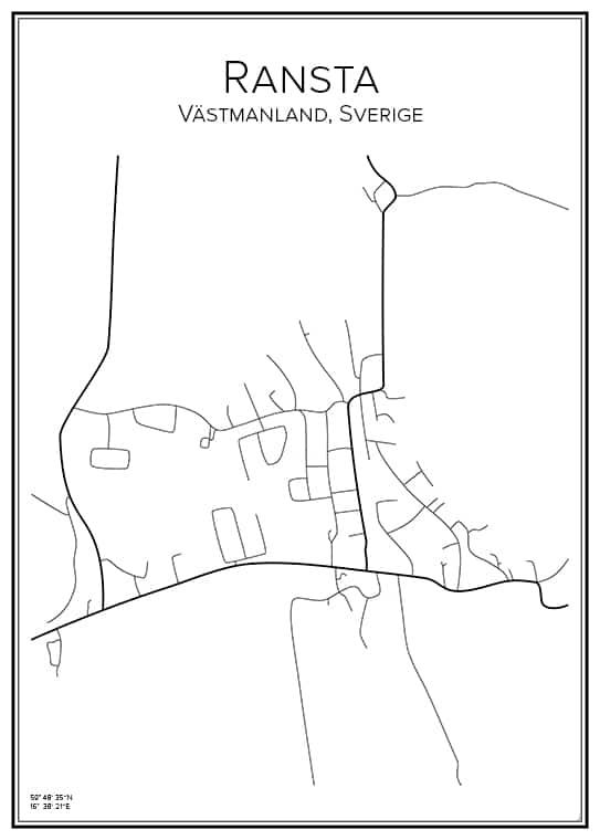 Stadskarta över Ransta