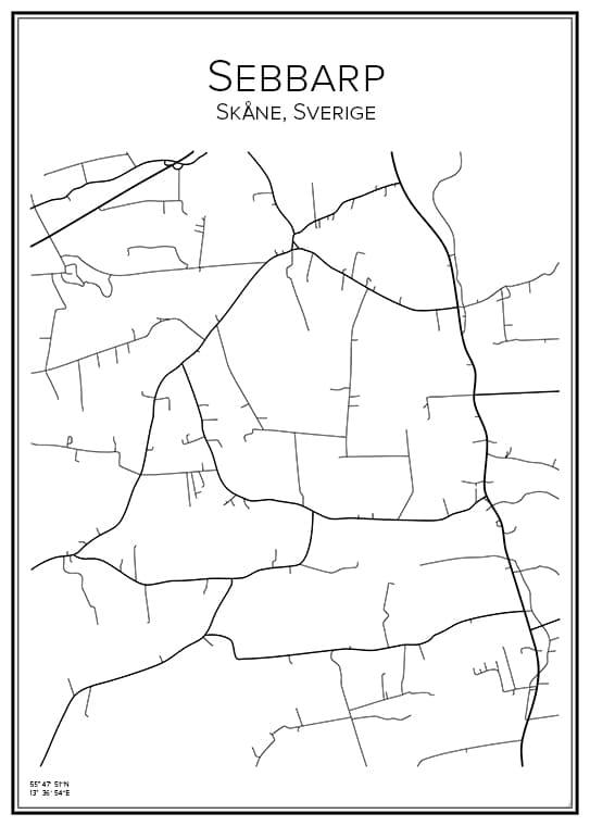 Stadskarta över Sebbarp