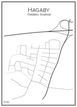 Stadskarta över Hagaby i Örebro