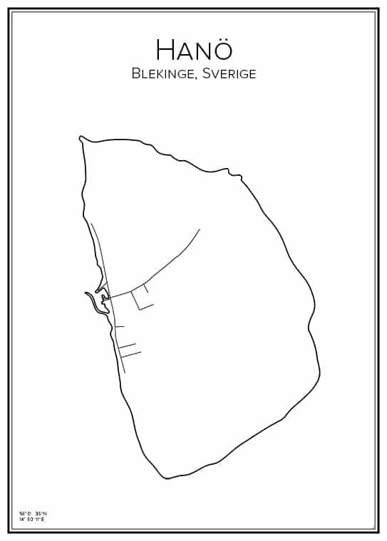Stadskarta över Hanö