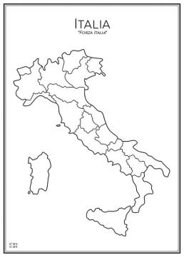 Stadskarta över Italien