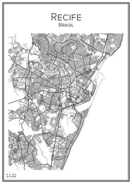 Stadskarta över Recife