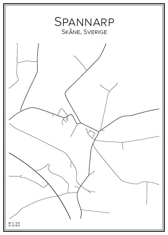 Stadskarta över Spannarp