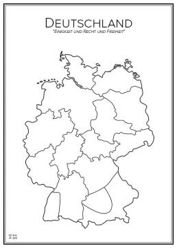 Stadskarta över Tyskland