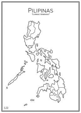 Stadskarta över Filippinerna