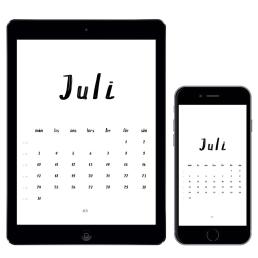Gratis kalender för juli 2017