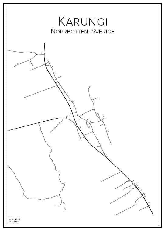 Stadskarta över Karungi