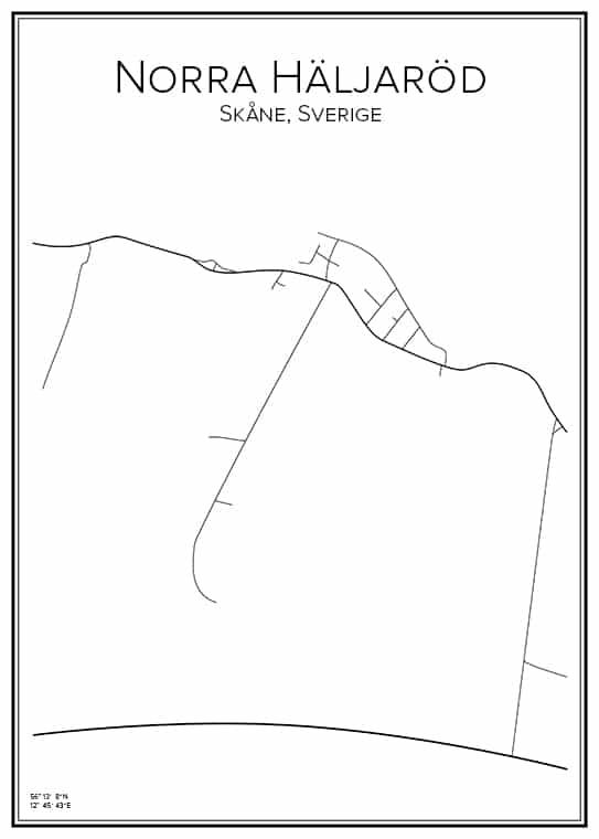 Stadskarta över Norra Häljaröd