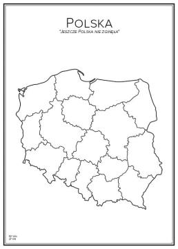 Stadskarta över Polen