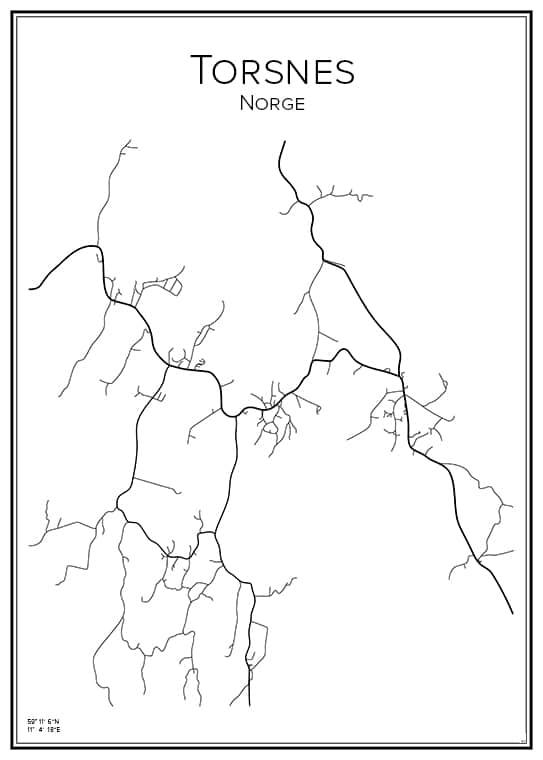 Stadskarta över Torsnes