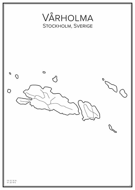Stadskarta över Vårholma
