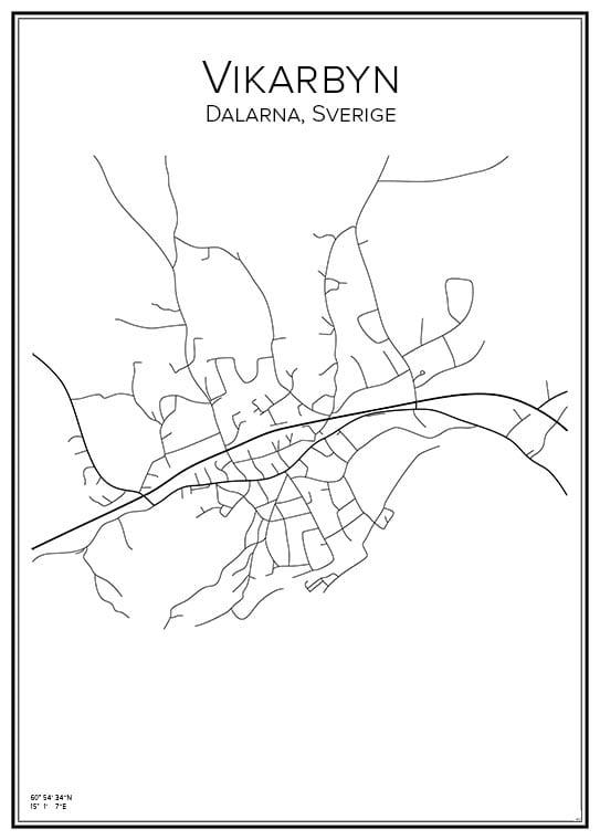 Stadskarta över Vikarbyn
