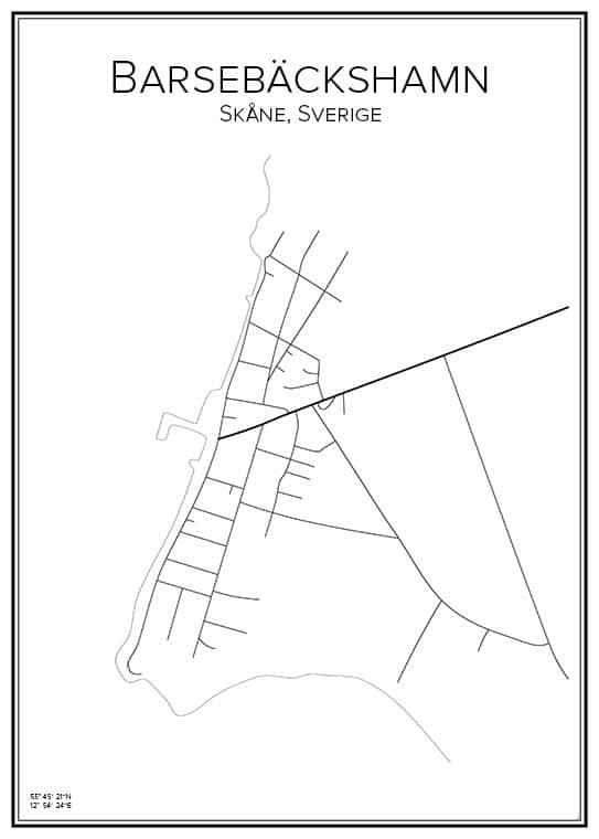 Stadskarta över Barsebäckshamn