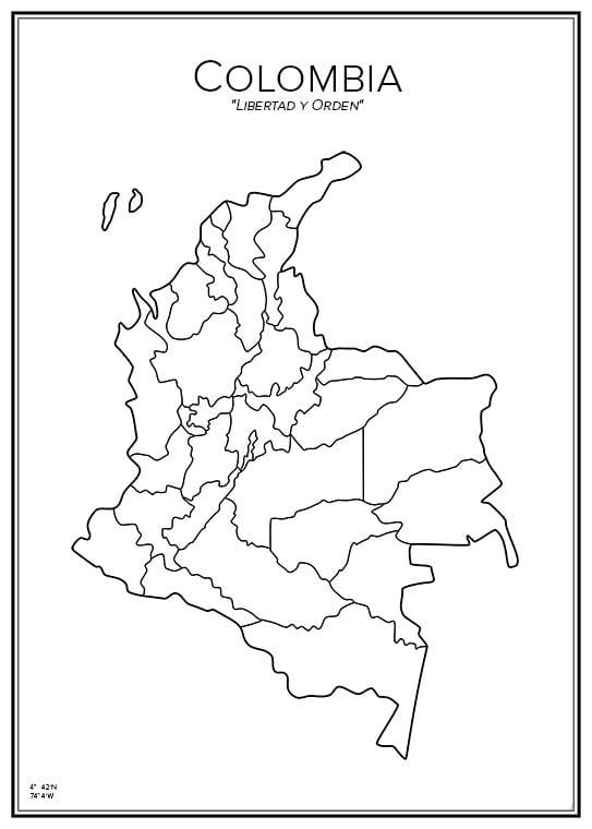 Stadskarta över Colombia
