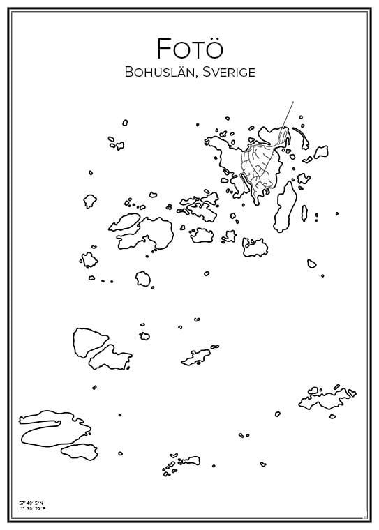 Stadskarta över Fotö