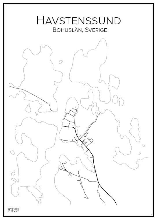 Stadskarta över Havstenssund