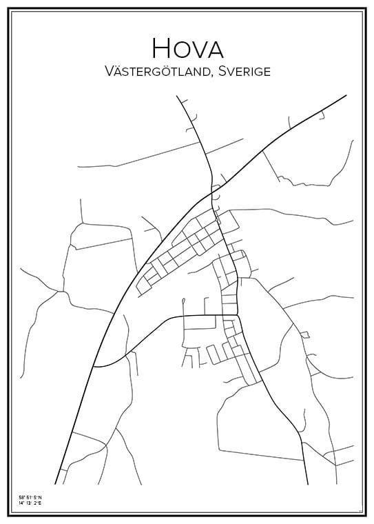 Stadskarta över Hova