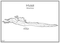 Stadskarta över Hvar