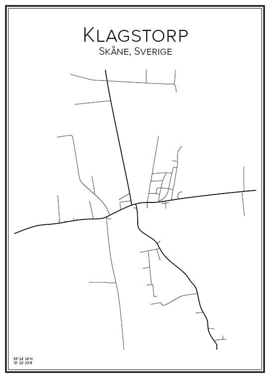 Stadskarta över Klagstorp