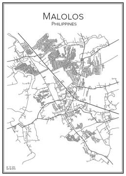 Stadskarta över Malolos