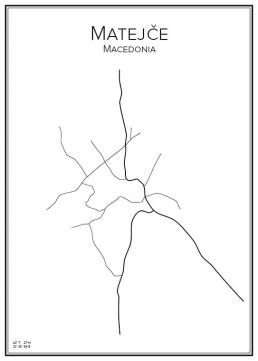 Stadskarta över Matejče