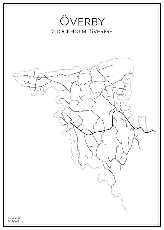 Stadskarta över Överby
