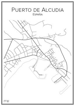 Stadskarta över Puerto de Alcudia