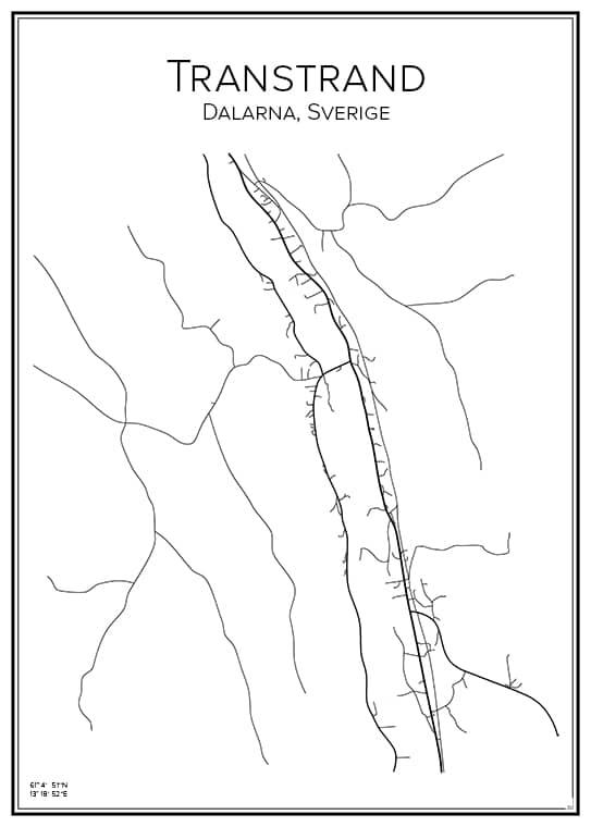 Stadskarta över Transtrand