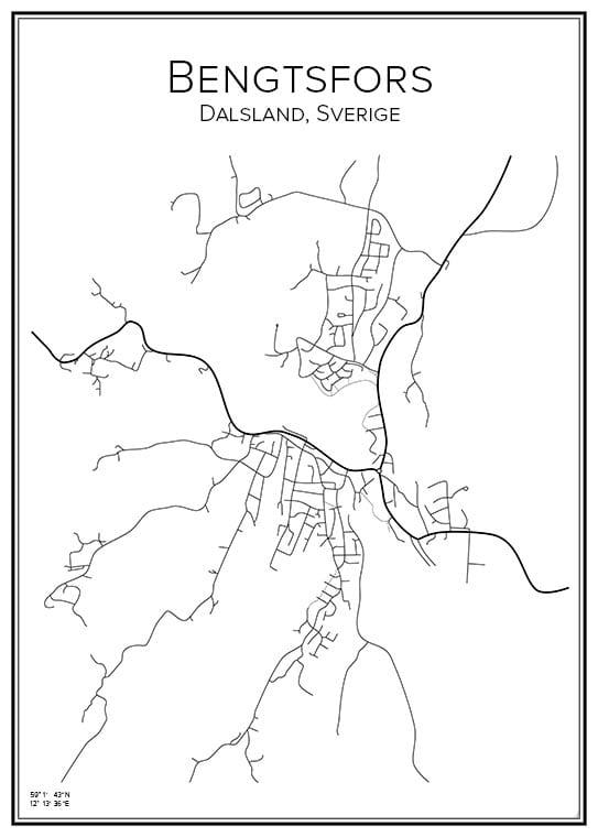 Stadskarta över Bengtsfors
