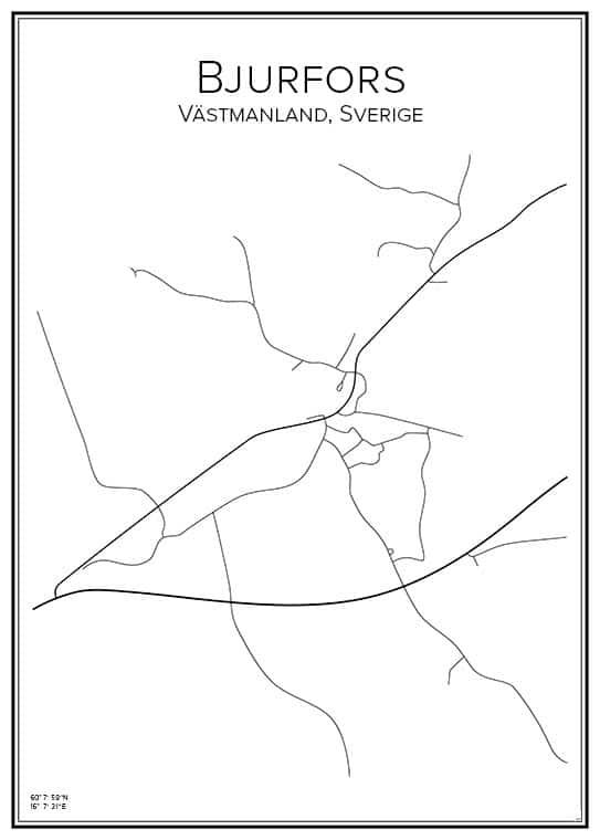 Stadskarta över Bjurfors