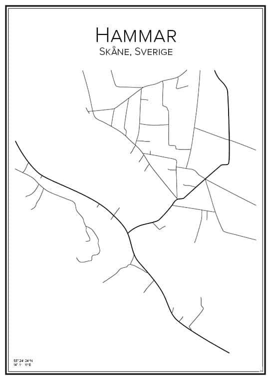 Stadskarta över Hammar