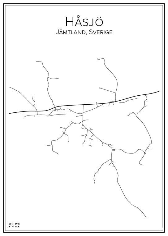 Stadskarta över Håsjö