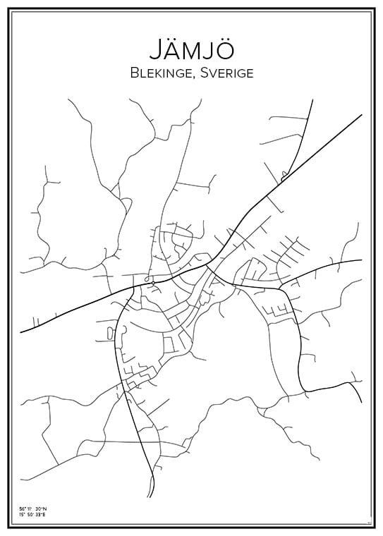 Stadskarta över Jämjö