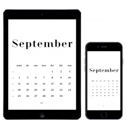 Gratis kalender för september 2017