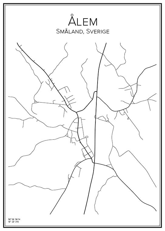 Stadskarta över Ålem