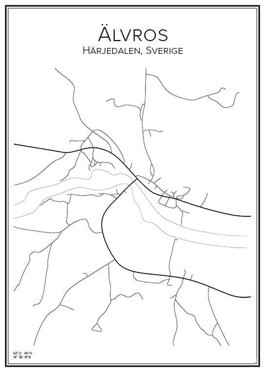 Stadskarta över Älvros