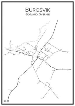 Stadskarta över Burgsvik