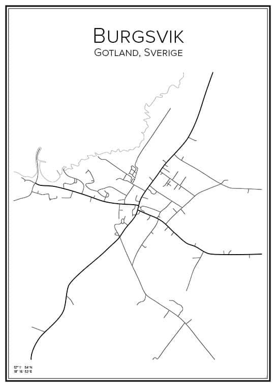 stadskarta visby